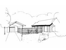 Ideeschetsen modernisering bungalow, Oude Larenseweg, Epse